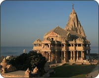 Somnath Temple at Veraval Beach